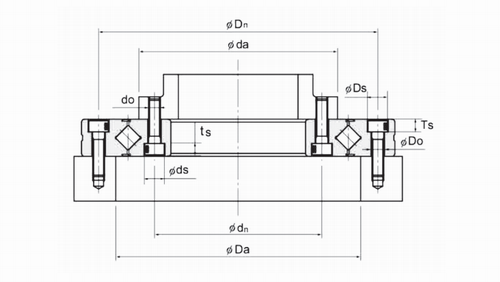 RU系列交叉圆柱滚子轴承结构图