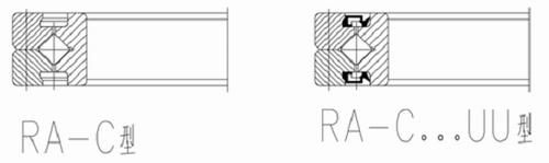 RA-C系列交叉滚子轴承结构图